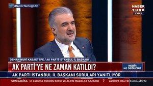 AK Parti İstanbul İl Başkanı Kabaktepe Habertürk TV'de konuşuyor