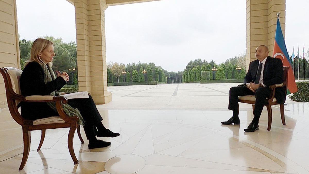 Aliyev, BBC muhabirini sorduğu soruya pişman etti! ''Siz sadece suçlamayı ve saldırmayı seversiniz''