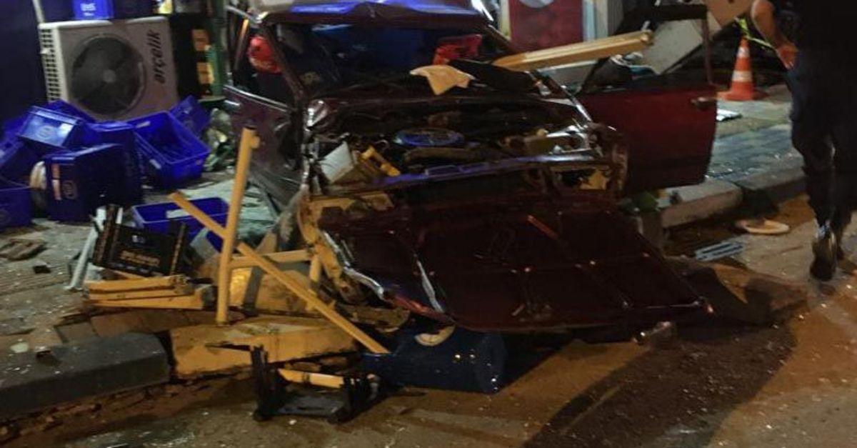 Alkollü sürücü dehşet saçtı: 1 ölü, 5 yaralı