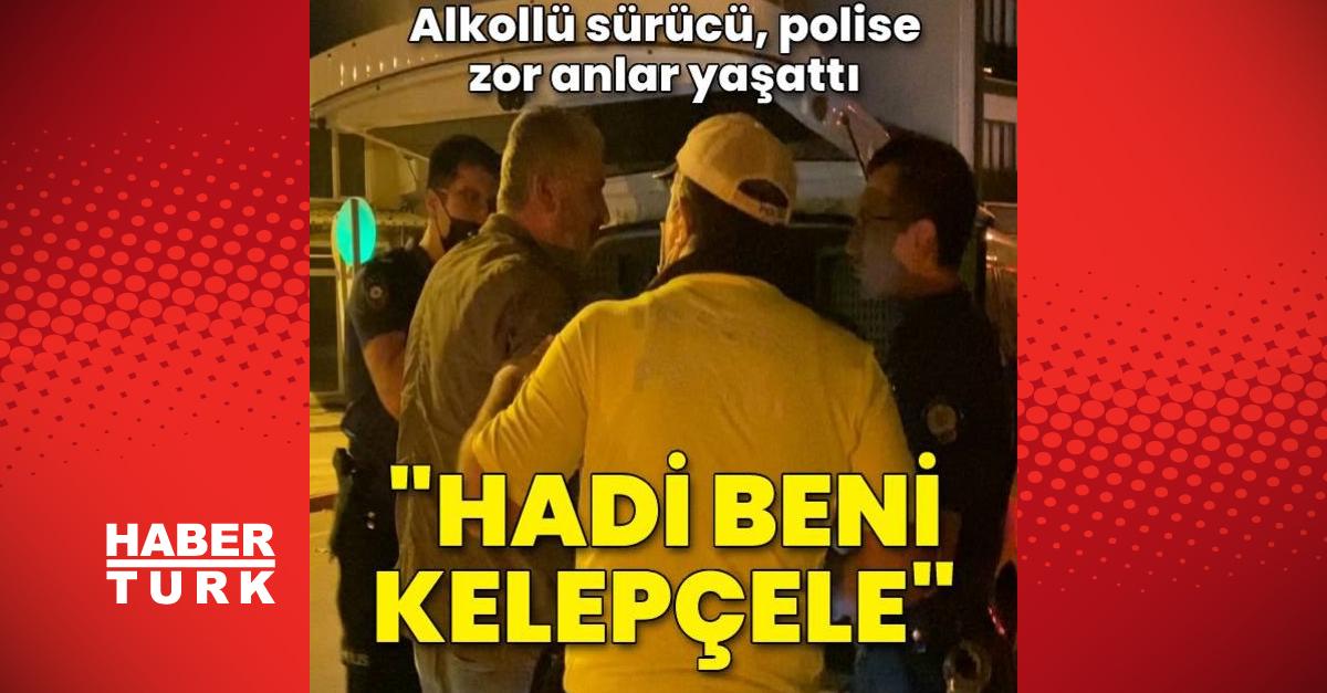 Alkollü sürücüden polise: