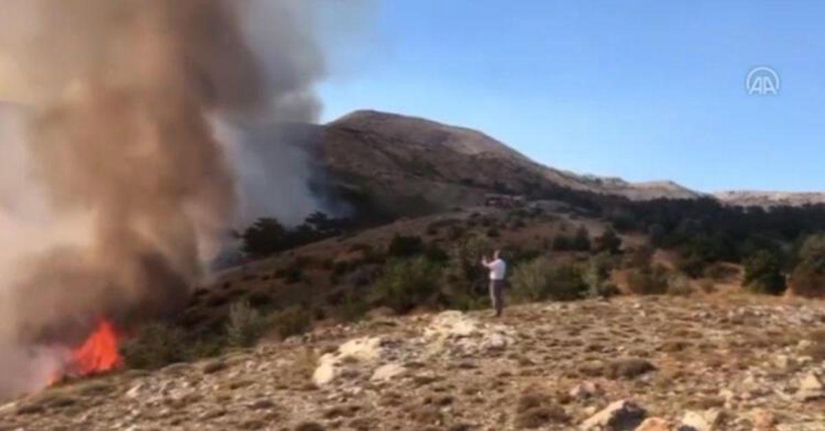 Ankara'da orman yangını! Müdahale devam ediyor