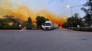 Antalya'da faciadan dönüldü! Asit tankı patladı