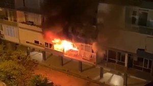 Antalya'nın 'ilk apartmanı'nda yangın
