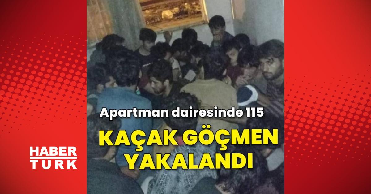 Apartman dairesinde saklanan 115 kaçak göçmen yakalandı