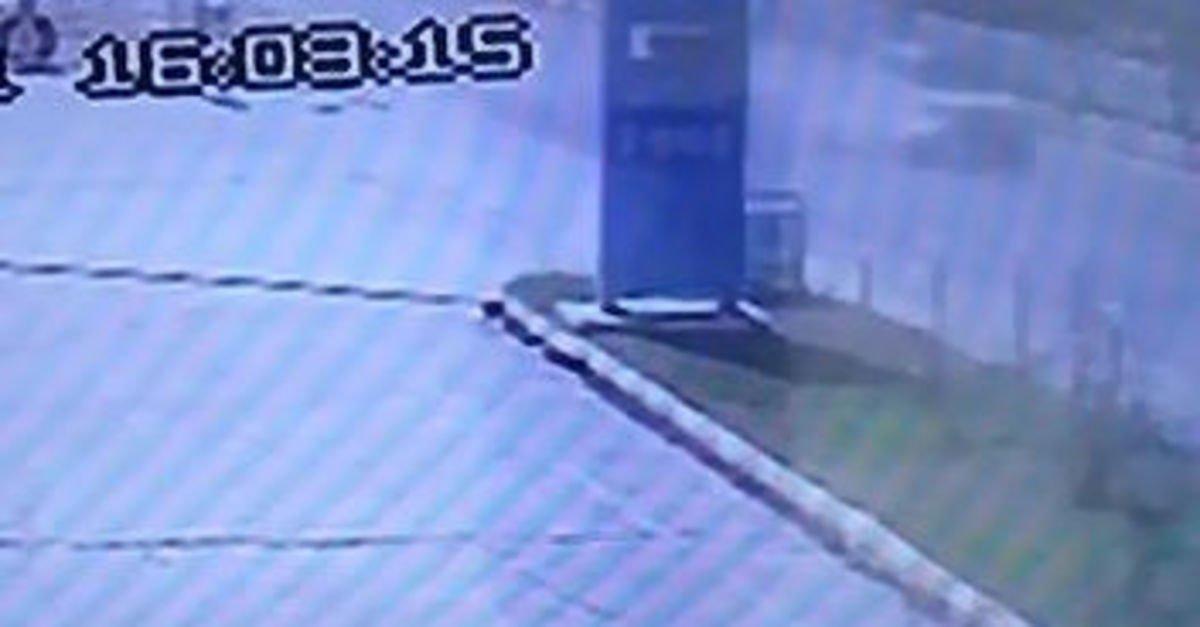 Aydın'da motosikletlinin öldüğü kaza kamerada