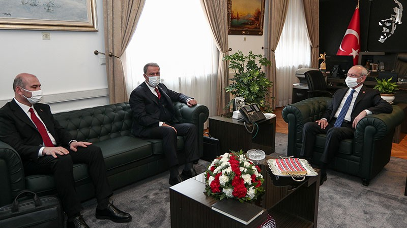 Bakan Akar ve Soylu'dan partilere Gara ziyareti