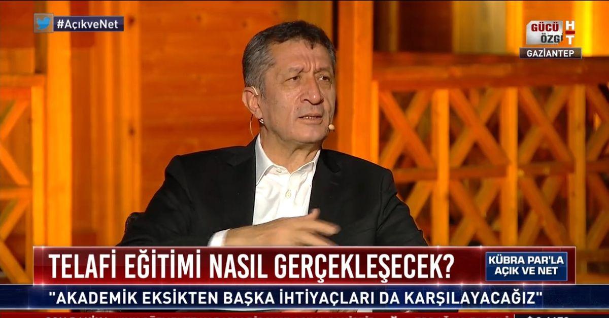 Bakan Ziya Selçuk Habertürk TV'de soruları yanıtladı
