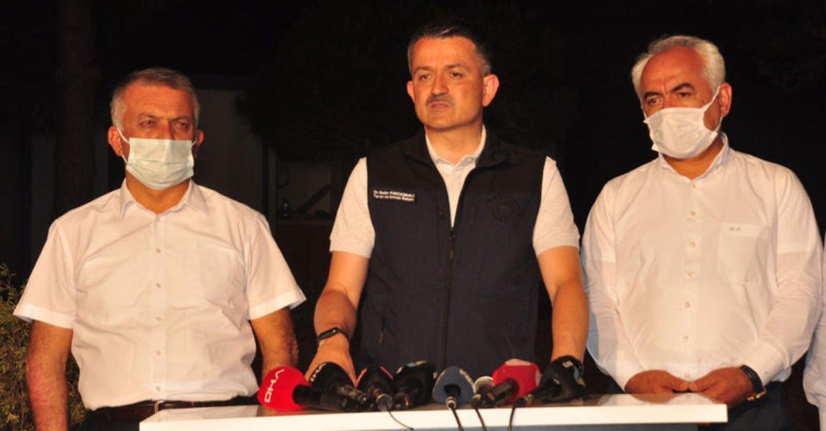 Bakanı Pakdemirli'den Manavgat açıklaması