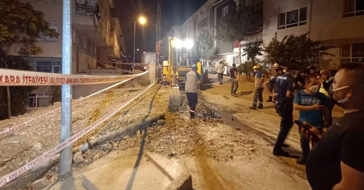 Başkent'te inşaat kazısından zarar gören 5 bina tahliye edildi