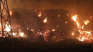 Biyokütle enerji santralinde büyük yangın!