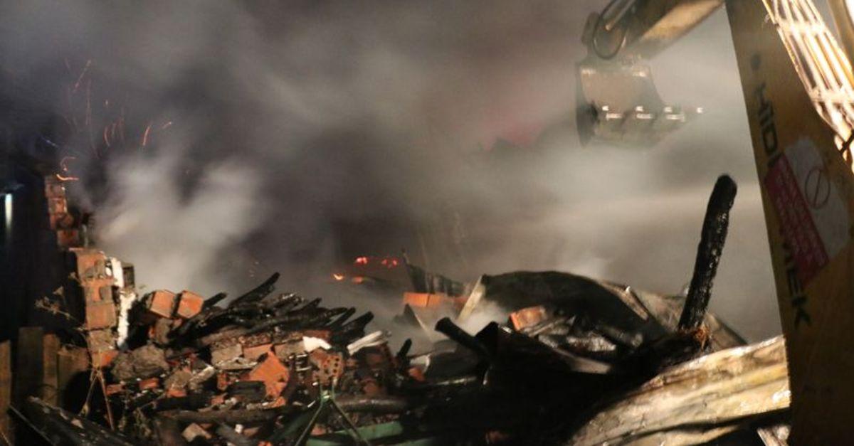 Bolu'da ahır ve samanlıkta yangın paniği