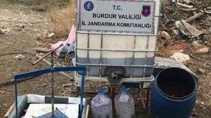 Burdur'da 500 litreden fazla kaçak içki yakalandı