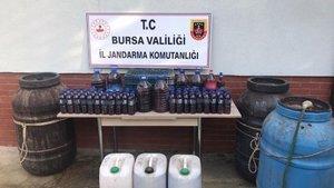 Bursa'da 723 litre 'sahte içki' ele geçirildi