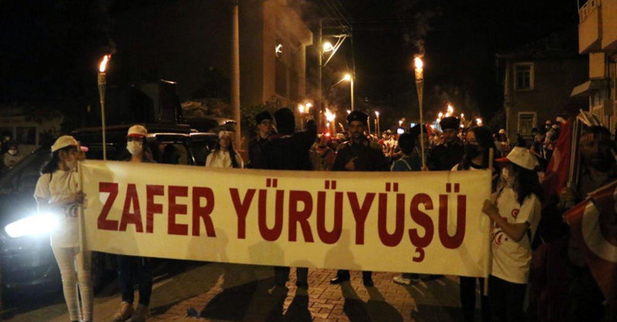 Büyük Taarruz'un 99'uncu yılında zafer yürüyüşü
