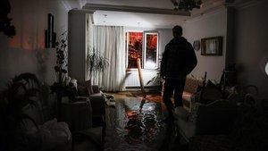 Büyükçekmece'de evlere su bastı