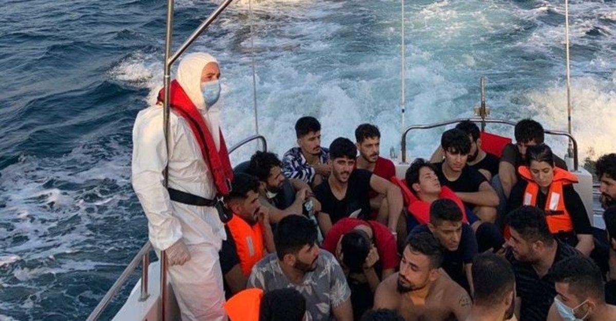 Çanakkale açıklarında 63 yabancı uyruklu yakalandı: 2 gözaltı