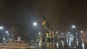 Çanakkale Boğazı'na kar engeli