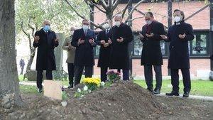 Cumhurbaşkanı Erdoğan'dan, Ahmet Kekeç'in mezarın ziyaret