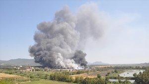 Dalaman'daki yangının başladığı kağıt fabrikası kapatıldı