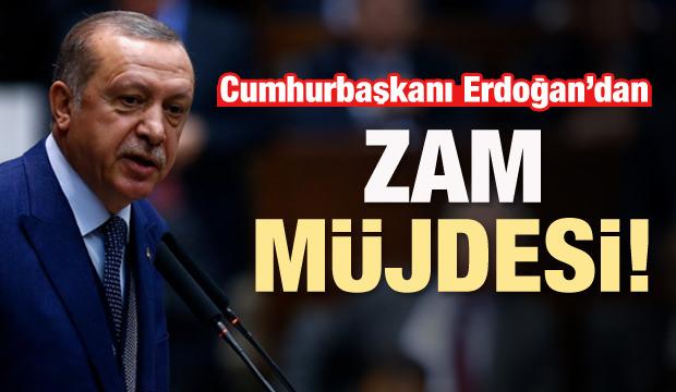 Erdoğan müjdeyi verdi: Yüzde 10 zam!