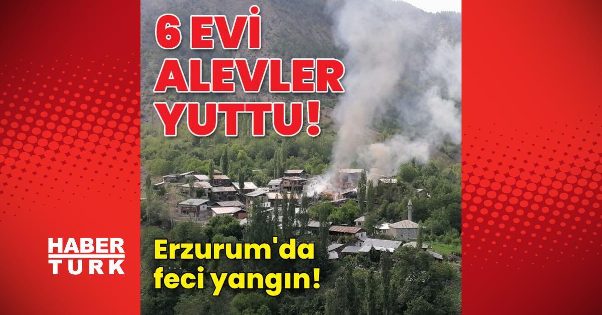 Feci yangın! 6 evi alevler yuttu