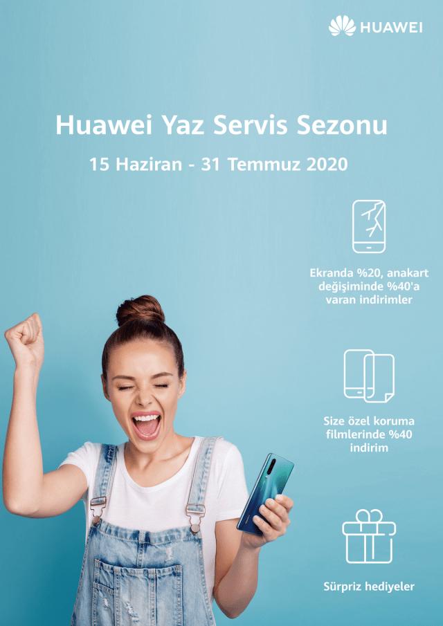 Huawei Teknik Servisi, yazın gelişini sürpriz hediyeler ile karşılıyor