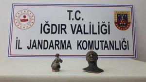 Iğdır'da 2 heykel ele geçirildi