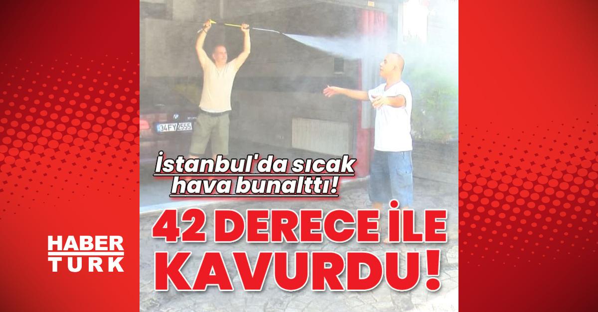 İstanbul'da sıcak hava bunalttı!