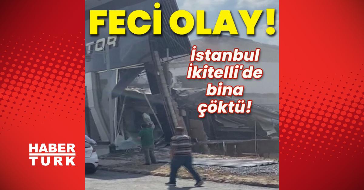 İstanbul İkitelli'de bina çöktü!