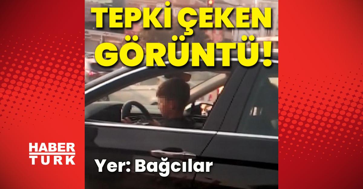 İstanbul trafiğinde tepki çeken görüntü!