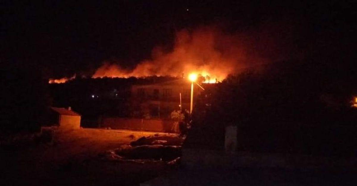 İzmir Tire'de yangın