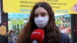 Kadına şiddete karşı dikkat çeken afiş!