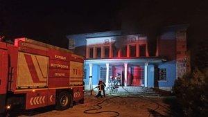 Kayseri'de eski müze binasında korkutan yangın