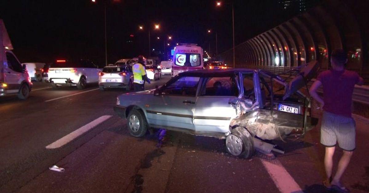 Kaza yapan alkollü sürücü dayak yedi
