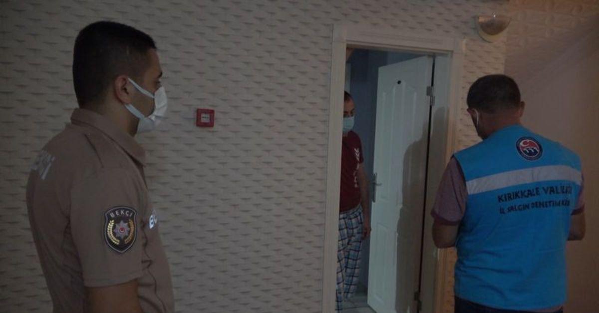 Koronalı hasta otelde yakalandı