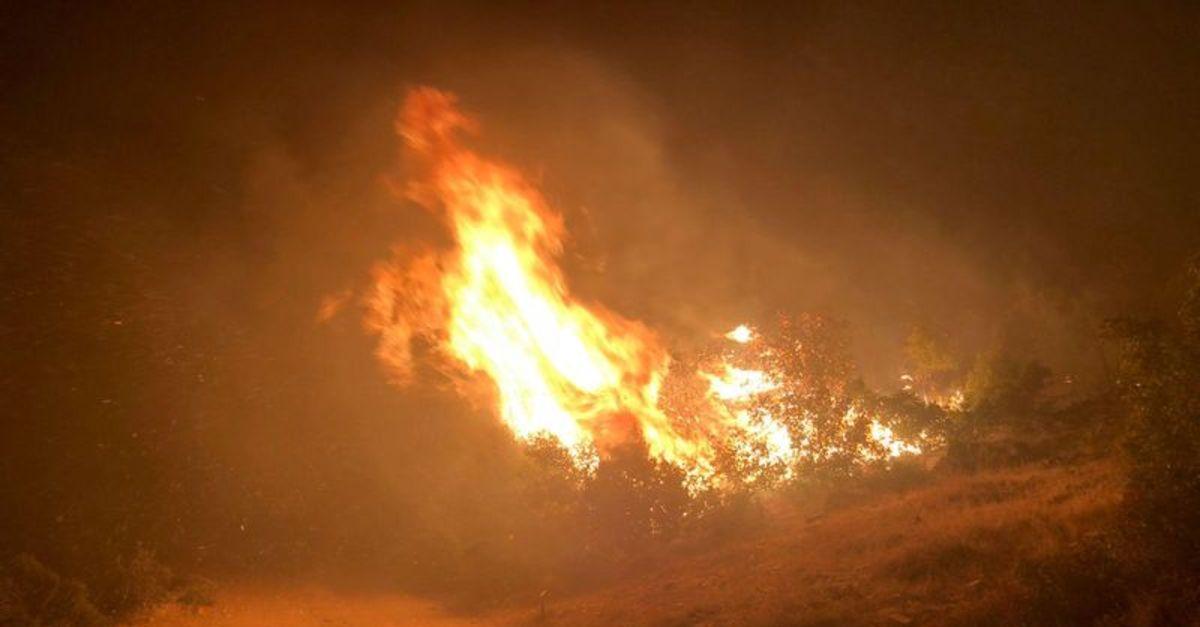 Manisa Kula'da yangın