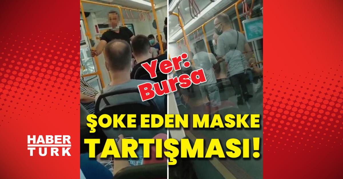 Metroda şoke eden maske tartışması!