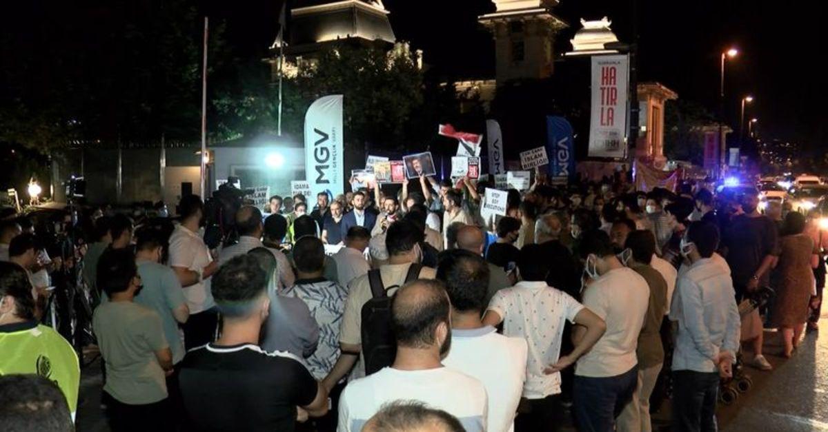 Mısır Başkonsolosluğu önünde idam protestosu