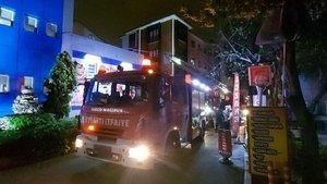 Pendik'te özel hastanede korkutan yangın