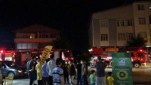 Pendik'te seramik atölyesi yandı: Mahalleli sokağa döküldü