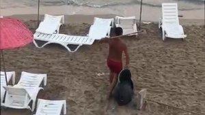 Plaj magandası gözaltına alındı