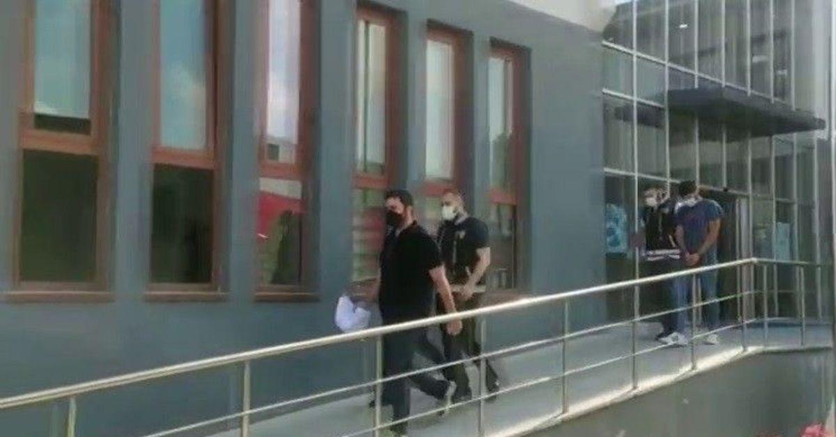 Polisleri görünce uyuşturucu dolu poşeti pencereden attı