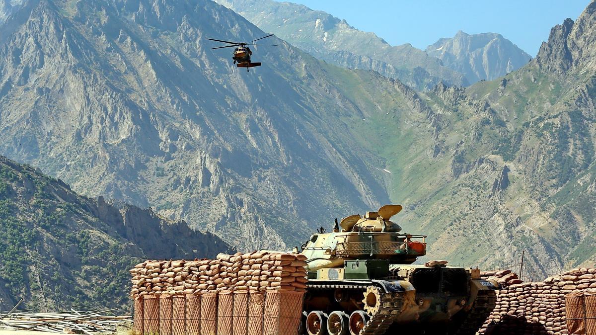 Saldırı hazırlığı yapan 6 PKK/YPG'li terörist etkisiz hâle getirildi