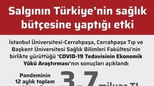 Salgının Türkiye'nin sağlık bütçesine yaptığı etki