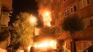 Şişli'de gecekondu yangını!
