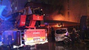 Şişli'de otoparkta yangın paniği