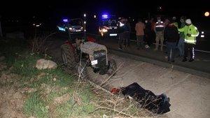 Sivas'ta traktör devrildi: 2 ölü