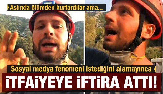 Sosyal medya fenomeni Batuhan Onur Maz, çekim yapmasına izin verilmeyince itfaiyeye iftira attı