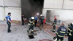 Yağ fabrikasında korkutan yangın