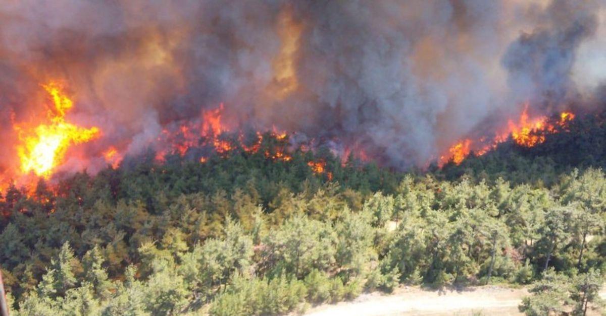 Yangın bölgesinde hava durumu